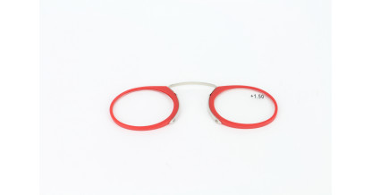 wallet reading glasses rood